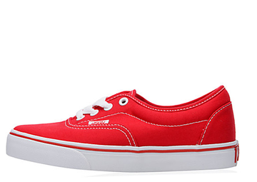 vans canvas rojas